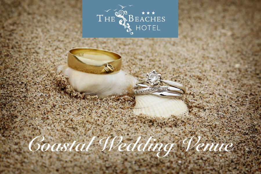 Wedding Rings on the Sand of Barkby Beach at the Beaches Hotel Prestatyn North Wales